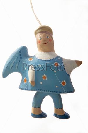Глиняный ангел в синем сарафане