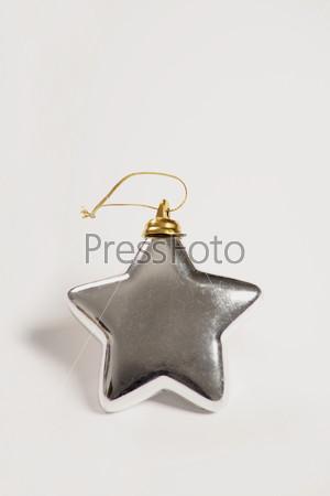 Матовая серебряная звезда