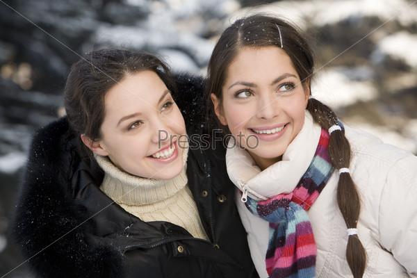 Подружки зимой