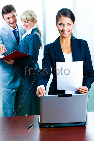 Portrait of business woman  standing in the office