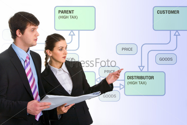 Фото преуспевающих деловых людей, делающих презентацию