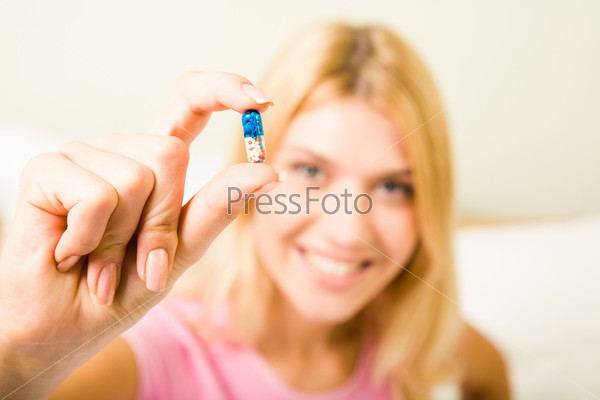 Pill in hand