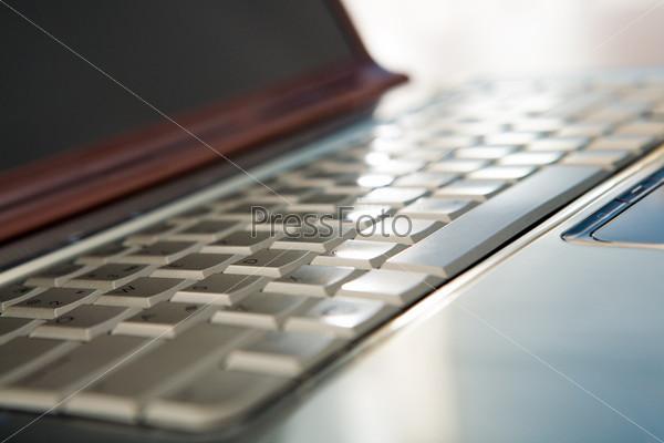 Крупный план ноутбука