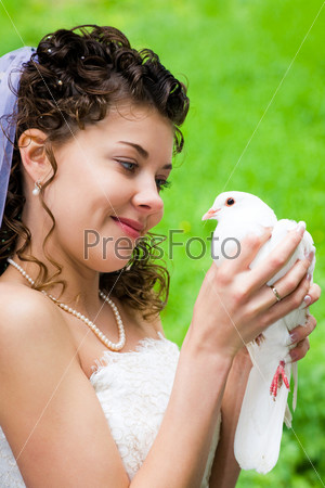 Bride with dove