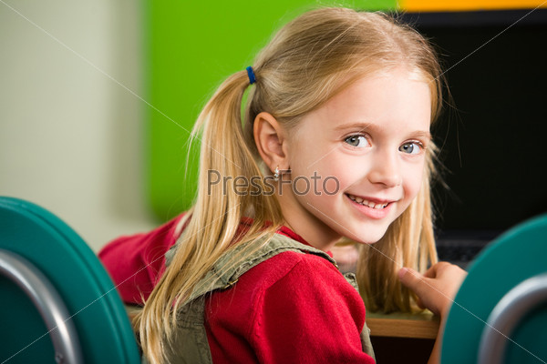Cute schoolgirl