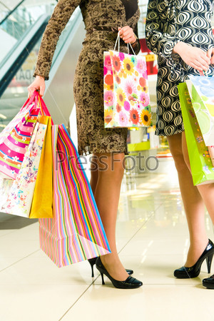 Paperbags in hands