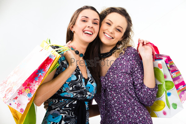 Girls with presents