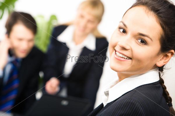 Крупный план деловой женщины