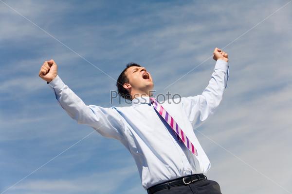 Joyful scream