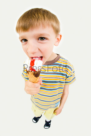 Boy with ice-cream