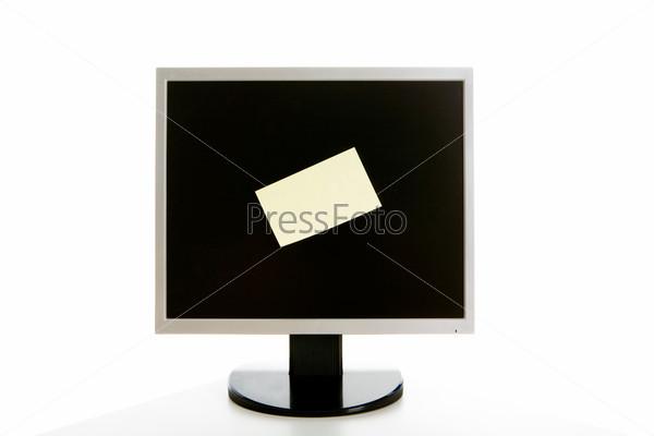 Стикер на мониторе компьютера