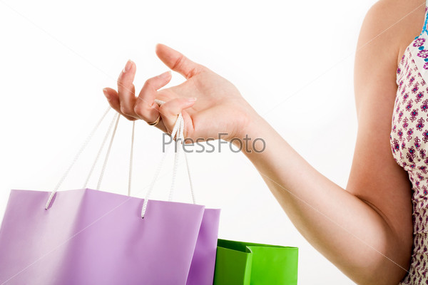 Hand of shopper