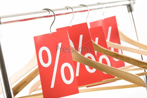 Row of hangers