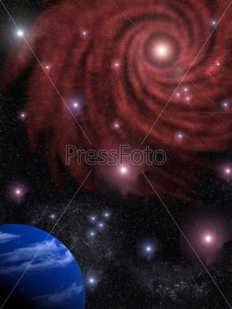 Background the star sky