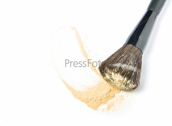 Make-up brush and powder