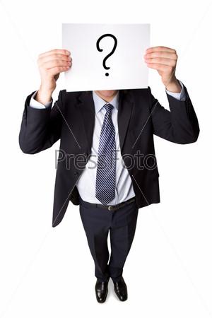 человек со знаком вопроса вместо головы