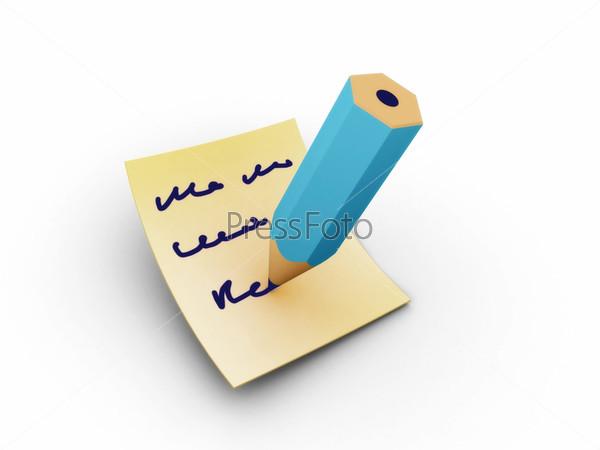 Заметка синим карандашом