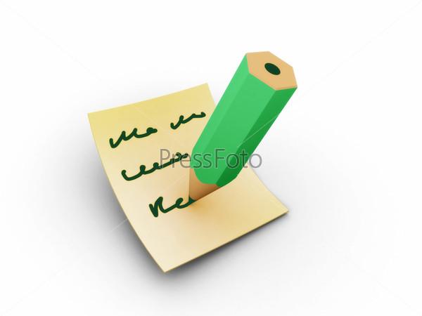 Заметка зеленым карандашом