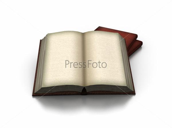 3D модель разворота книги на белом фоне