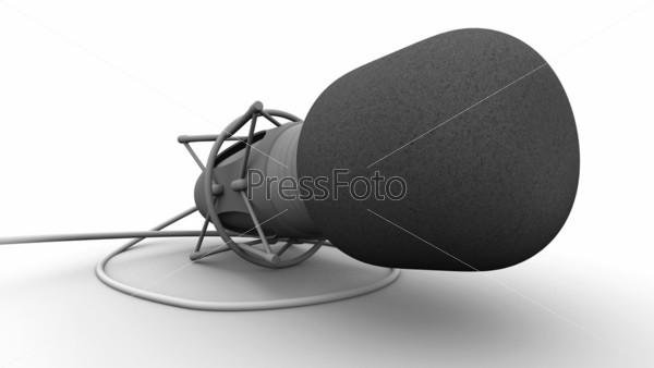 Микрофон на белом фоне