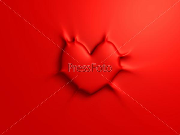 Sticky red heart