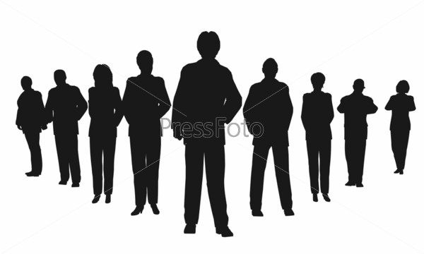 business people with leader