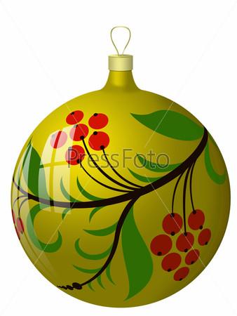 New Year's ball with hohloma.