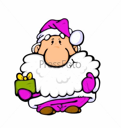 Карикатура Деда Мороза