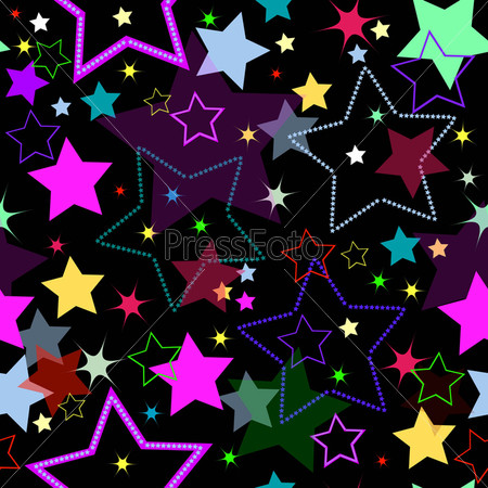 Seamless background with stars (vector)