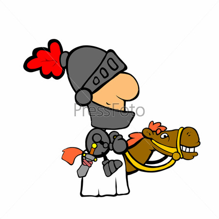 Рисунок рыцаря на коне