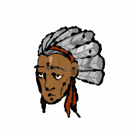 Голова индейца