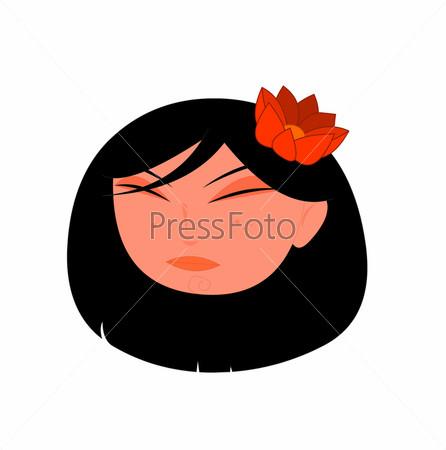 Нарисованная девушка