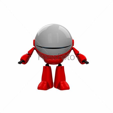 Фигурка красного робота