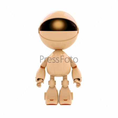 Фигурка бежевого робота