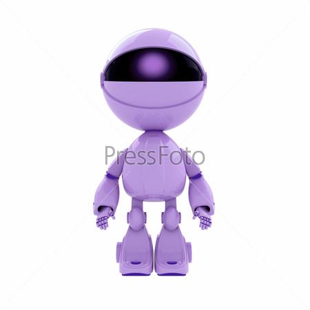 Фигурка сиреневого робота