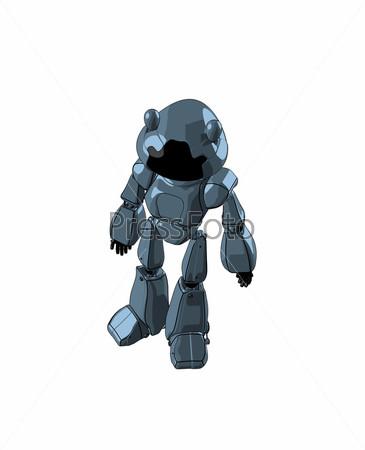 Фигурка блестящего робота