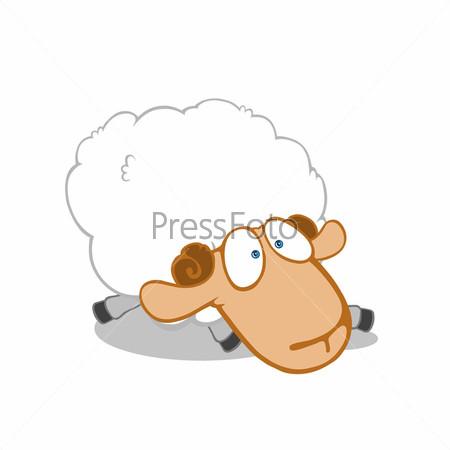 Рисунок усталой овечки