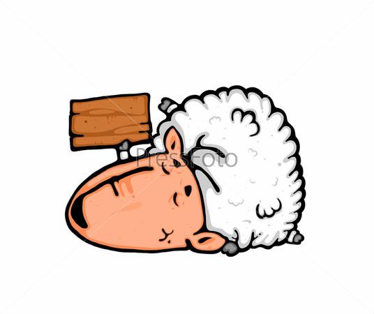 Рисунок спящей овечки