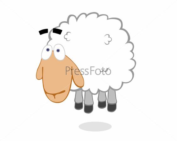 Рисунок овечки в прыжке