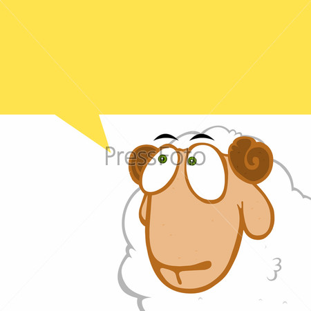 Овца с местом под текст