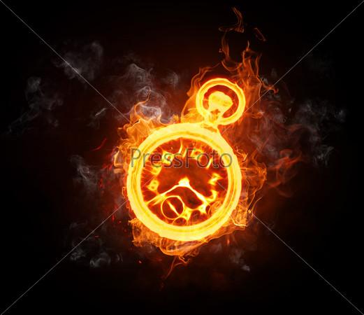 картинки часы огненные