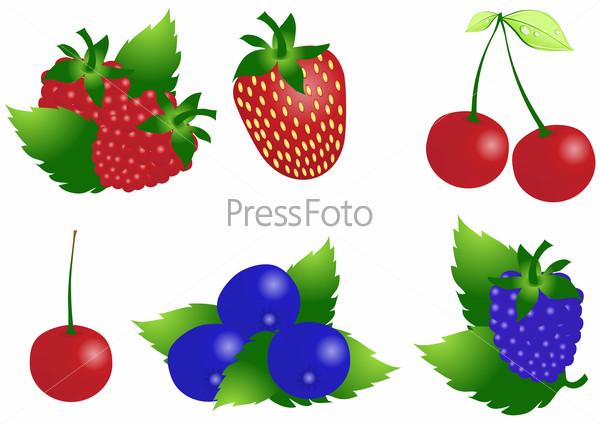 нарисованные картинки ягоды