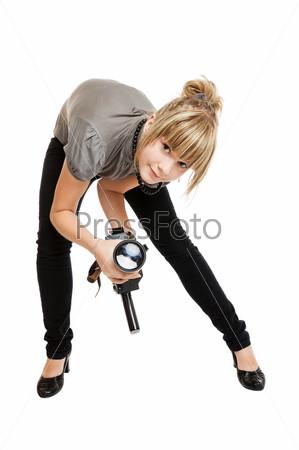beautiful girl photographer