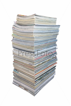 Big stack of magazines