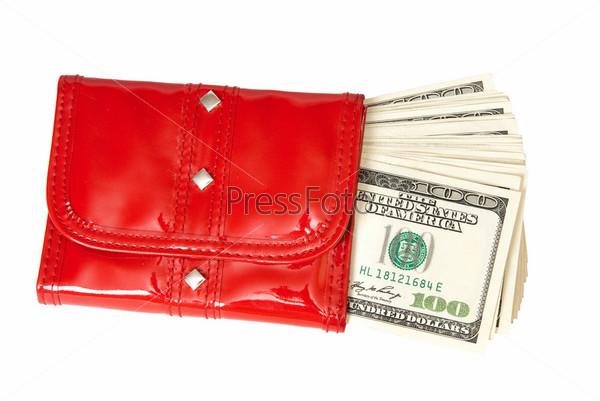Красный кошелек привлекает деньги