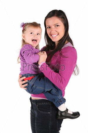 Мать с девочкой