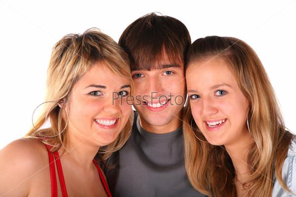 Мальчик и две девочки