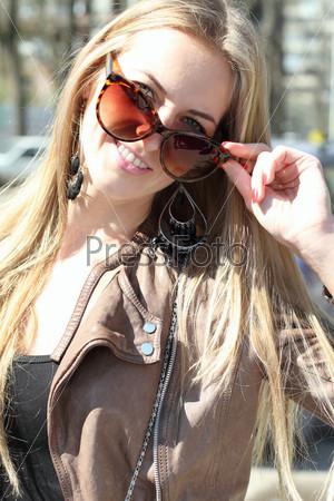 Girl in sun glasses