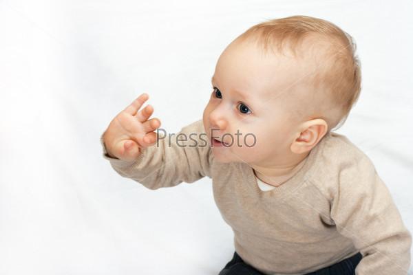 baby portrait on white