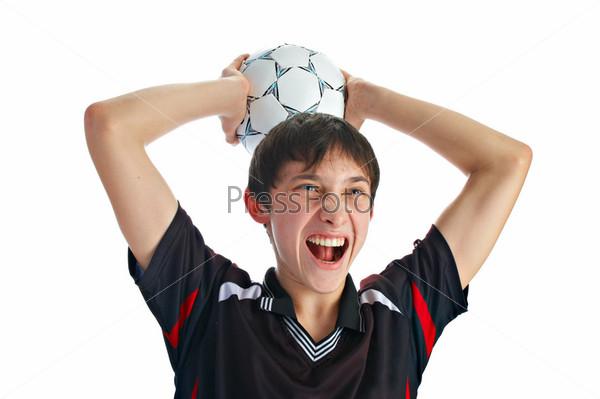 emotional soccer player
